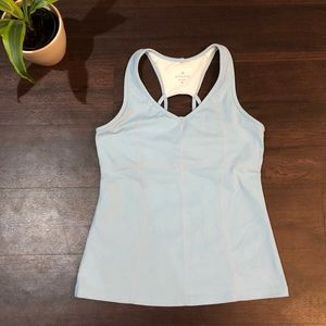 Athleta light blue strappy back workout tank